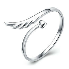 925 Sterling Silver Angel Wing and Heart Ring Jewellery Womens Ladies Gifts