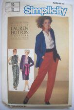 80's Lauren Hutton pants skirt jacket cowl blouse pattern 6682 size 10 uncut
