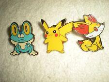 Pokemon Pins: Froakie - Pikachu - Fennekin Lot (3)