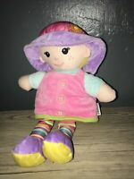 Le JouJou My First Doll Rattle Crinkle Squeaky Sensory Pram Toy Baby