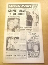 MELODY MAKER 1957 JUNE 8 HERBERT WILCOX LONNIE DONEGAN JAZZ BIG BAND SWING