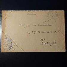 LETTRE COVER SERVICE MILITAIRE CHEMIN DE FER CAD BUREAU AMBT D'ARMÉE 2 1915
