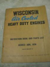 Wisconsin Engine ABN AKN Instructions and Parts List Service Operators Manual