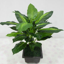 Evergreen Artificial Plant Bush Potted Tree Flower Home Lifelike Decor 25 Leaves