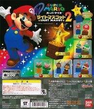 Bandai Super Mario Light Mascot Key chain Figure Part 2 Set of 12