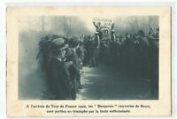 CPA SPORT , CYCLISME, ARRIVEE DU TOUR DE FRANCE 1922