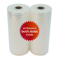"TWO 8"" x 50' Universal Vacuum Seal Rolls - For FoodSaver Best Quality in USA!"