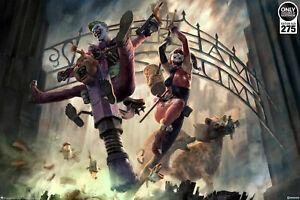 Sideshow Joker & Harley Quinn Arkham Asylum Breakout Premium Art Print 76/275