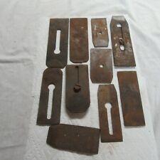 Vintage Wood Working Plane Blades Lot of 10