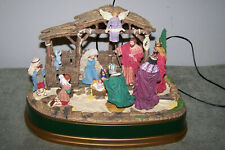 1998 Mr. Christmas Away In The Manger Illuminated Musical Nativity Scene