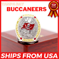 FROM USA - Super Bowl LV 2021 TAMPA BAY BUCCANEERS 2020 Championship Ring BRADY