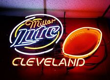 "New Miller Lite NFL Cleveland Browns Beer Neon Light Sign 24""x20"""