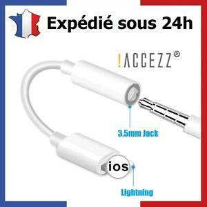 Adaptateur Jack 3,5mm Audio Écouteurs Pour iPhone 12 11 Pro Max Xs Xr X 8 7