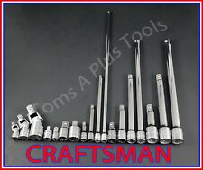 CRAFTSMAN HAND TOOLS 18pc ratchet wrench socket extension/universal/adapter set