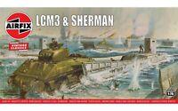 Airfix A03301V LCM3 & Sherman Tank 1:76 Plastic Model Kit New & Sealed
