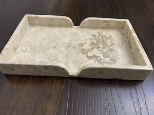 Genuine Marble  Scalloped Tray Champagne