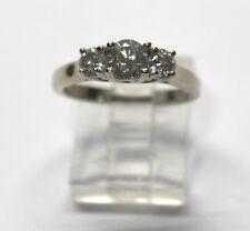 10 K WHITE GOLD PAST PRESENT FUTURE DIAMOND RING size 6.5 # 81605-1 DBW