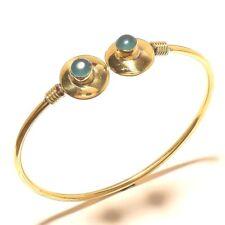 Chalcedony 925 Tibetan Silver Brass Bracelet Fashion Jewelry