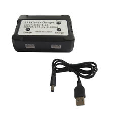 2 IN 1 7.4V Li-po Battery 2S Blance Charger For Hubsan H501S X4 Quad  2x600mA