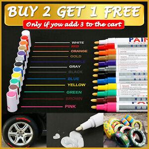 Paint Marker Pen Permanent Marker Pens For Car Tyre Tire Tyres Metal Colour UK🎨