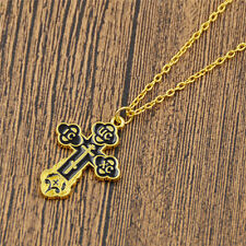 Russian Slavic Cross Necklace Pendant Eastern Church Christian Amulet Jewelry