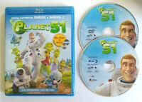 BLU-RAY+DVD Ita Animazione PLANET 51 mhe 201092 Minuti no cd lp mc vhs (D3)