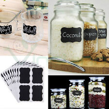 Set kit 36 etichette adesive riutilizzabili lavagna cucina barattoli contenitori