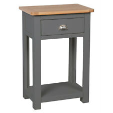 Grey Painted Small Console Table Oak / Hallway Solid Wood / Telephone Farrows