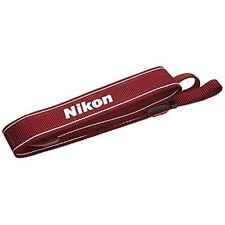 Nikon Camera Neck official Strap AN-DC3 RD for D5200 D5300 D3100 D3200 Red.