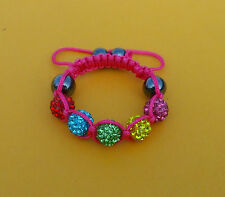 2018Sale  beautiful baby children 10mm shamballa bracelets Jewellery gift