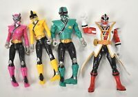 "Power Rangers Samurai Figure Lot 4"" Bandai 2012 Red Green Yellow Pink Mega"