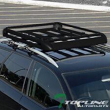 "Topline For Jeep 50"" Aluminum Roof Rack Rail Basket Luggage Storage Carrier -Blk"