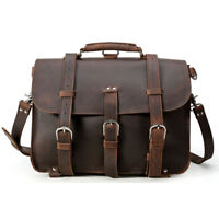 Large Cool Vintage Bull Leather Backpack Saddle Bag Laptop Shoulder Bag Handbag