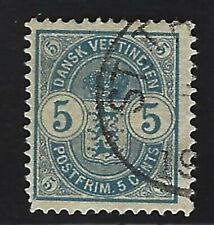 1900 Danish West Indies Scott #22 - 5c Arms Stamp - Used