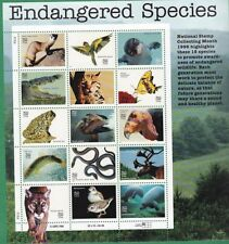 Stamps USPS Scott 3105 Sheet MNH 1996 Endangered Species 15x32