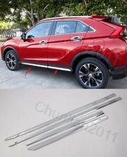 Chrome Body Door Sill Side Molding Cover Trim for 17-19 Mitsubishi Eclipse Cross