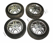 "GENUINE FORD FIESTA MK6 15"" 4 STUD 5 TWIN SPOKE ALLOY WHEEL SET x 4 2002 - 2008"