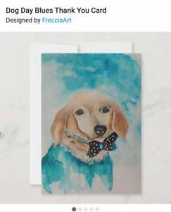 Happy Dog Pet Dachshund  Greeting Card New Thinking of you Hello