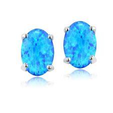 Opal Oval Costume Earrings