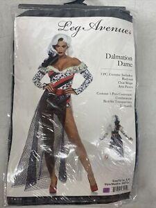 Dalmatian Dame Womens Costume Sexy Cruella de Vil 101 Halloween, Large.   G