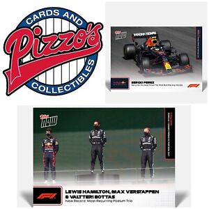 Hamilton, Verstappen, Bottas, Perez F1 TOPPS NOW Card #6 & 7 Bundle Presale