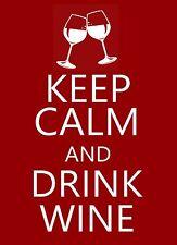 Keep Calm and Drink Wine STICKER DECAL VINYL BUMPER CAR WALL Guitar Laptop