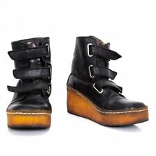 Jean-Paul GAULTIER Leather Loop And Hook Boots Size US About 7(K-90347)