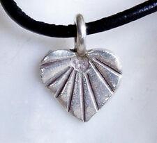 Klein massiv Silber Anhänger Herz Muster Handarbeit Kettenanhänger Modern