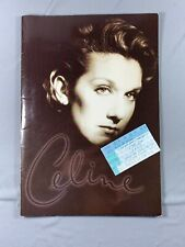 Vtg 1996 Celine Dion Tour Book & Ticket Stub Falling Into You
