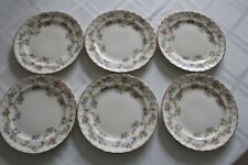 SIX POPE GOSSER DESSERT PLATES TWO DIFFERENT SIZES