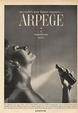 "1959 Lanvin PRINT AD ""Arpege""  Fragrance  Great Decor for Boudoir Bedroom Bath +"