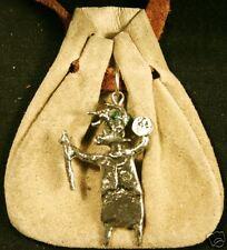 Native design bag- spirit standing holding staff- beige