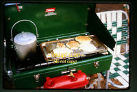 1966 Pancake Breakfast on a Coleman Camping Stove camp, Original Slide a5a -