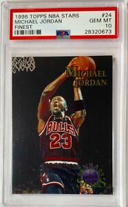 1996 Michael Jordan Topps NBA Stars FINEST PSA 10 ***POP 23*** Gem Mint #24 SSP